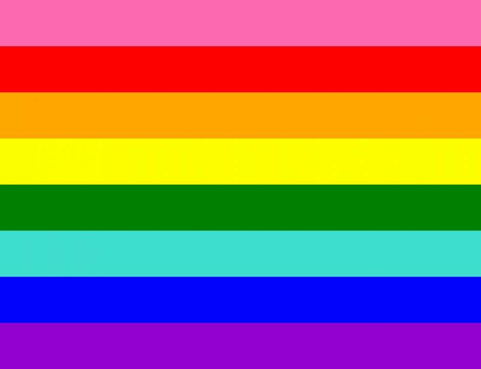 eight color pride flag designed by gilbert baker